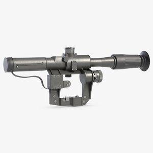 3D dragunov svd riflescope optics