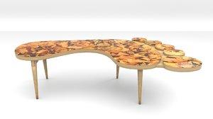 3D design footprint coffee table