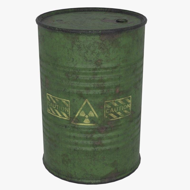 3D model barrel drum pbr