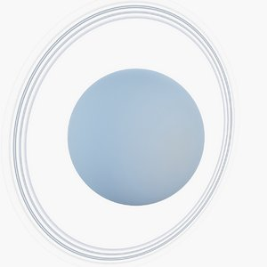 3D uranus planet