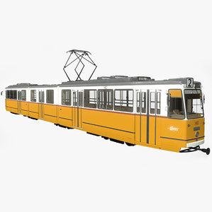 ganz csmg budapest tram 3D