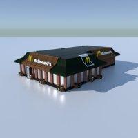 3D model mcdonalds restaurant