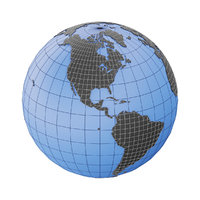 3D model globe earth mesh