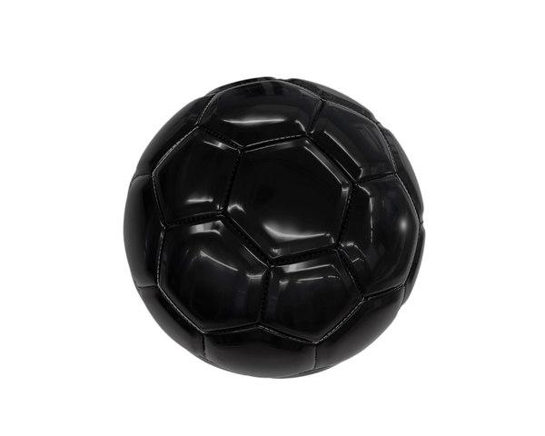 3D black football stitching