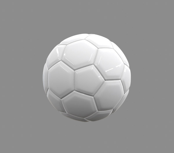 3D model white football stitching