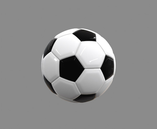 3D traditional football stitching model