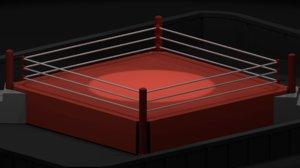 ring wrestling 3D model