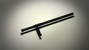 baton 3D model