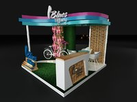 3D blues booth