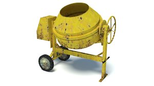 3D model concrete mixer