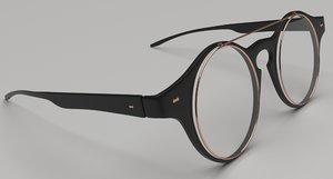 glasses spectacles eyeglasses model