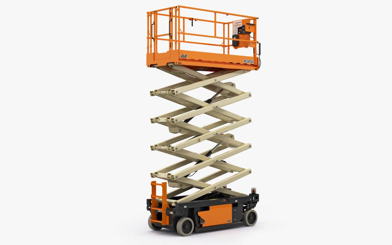 3D scissor lift jlg 4045r model