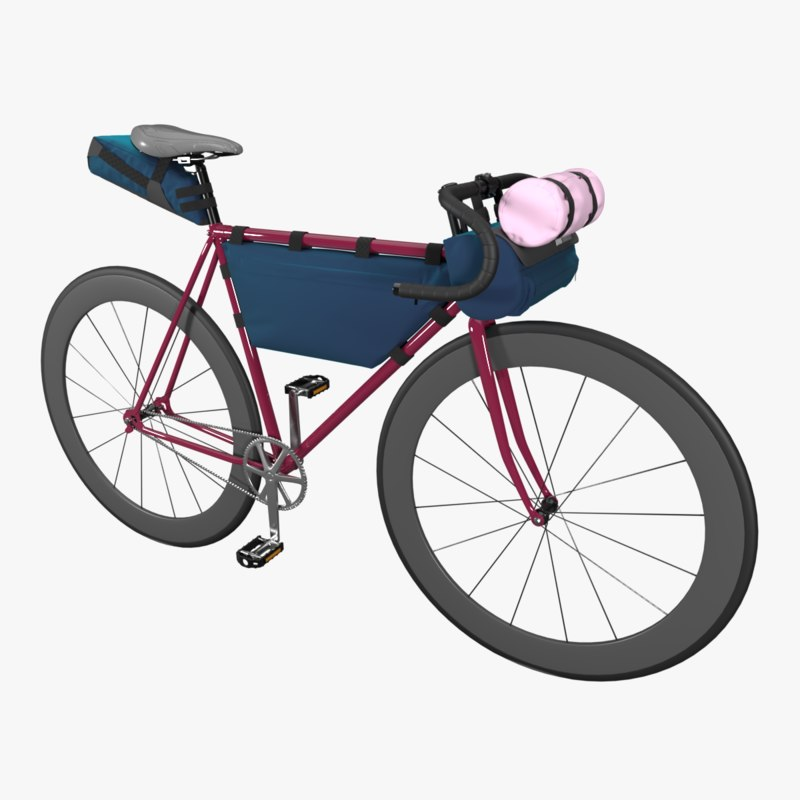 3D touring bicycle bags