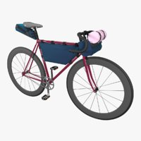 Touring bicycle with bicycle bags