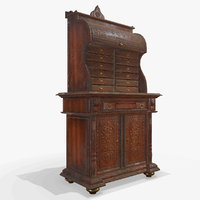 antiquare commode pbr 3D model