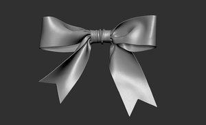 3D ribbon bow model