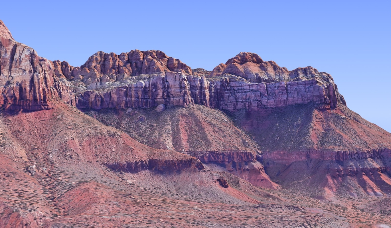 nature arizona mountains hd 3D model