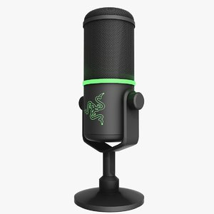 microphone razer seiren elite 3D model