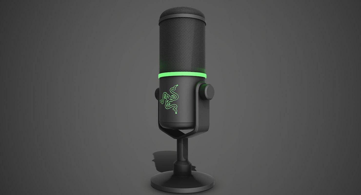microphone razer seiren elite 3D model