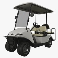 3D realistic golf cart model