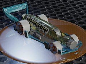 3D hot wheels carbonator model