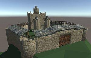 3D castle mobile model