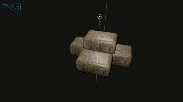hay bale 3D model