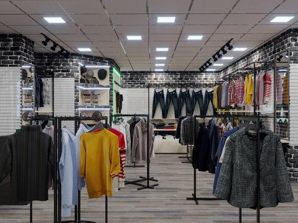 3D store boutique men model
