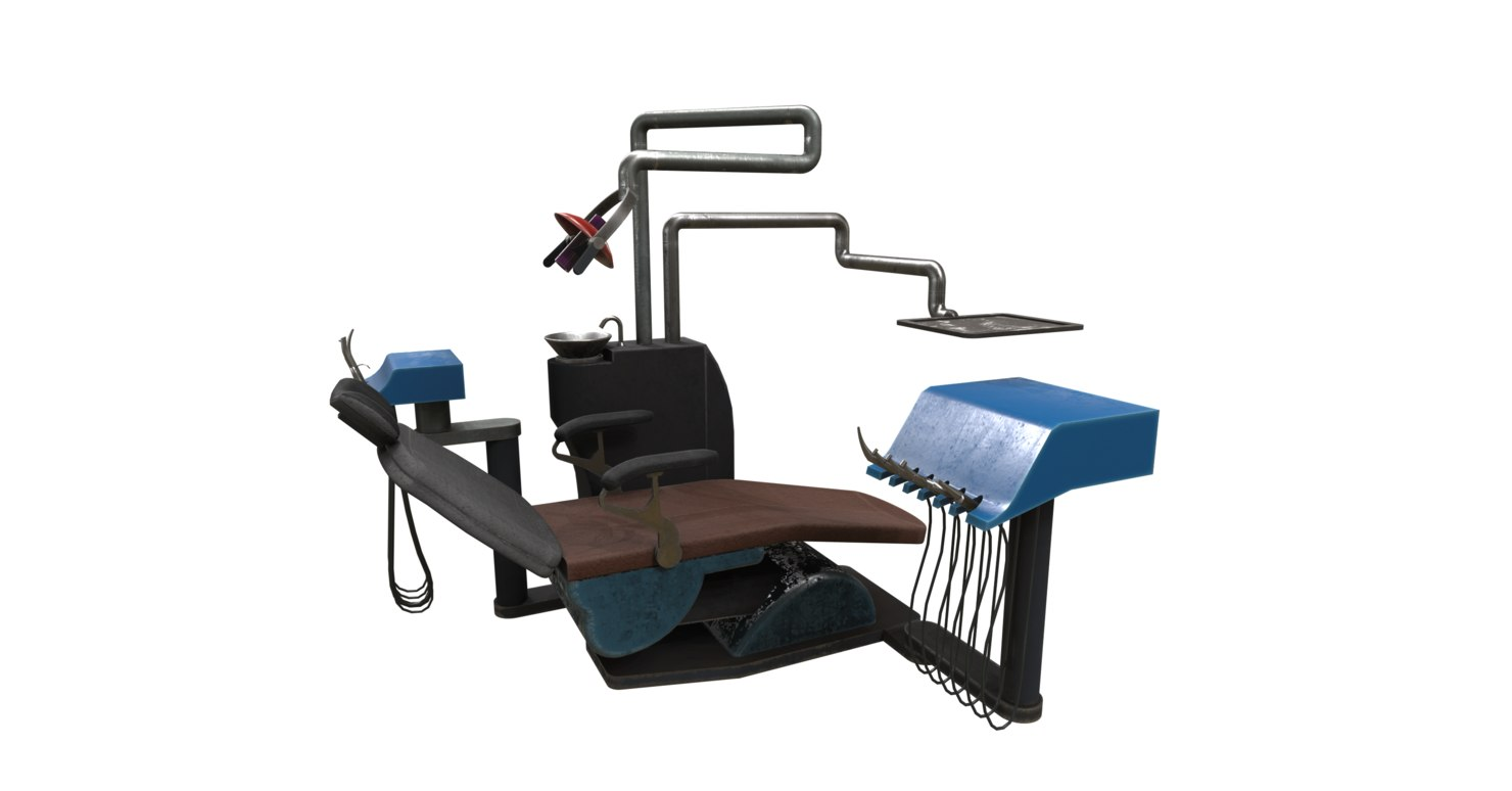 3D surgery bed dentist model