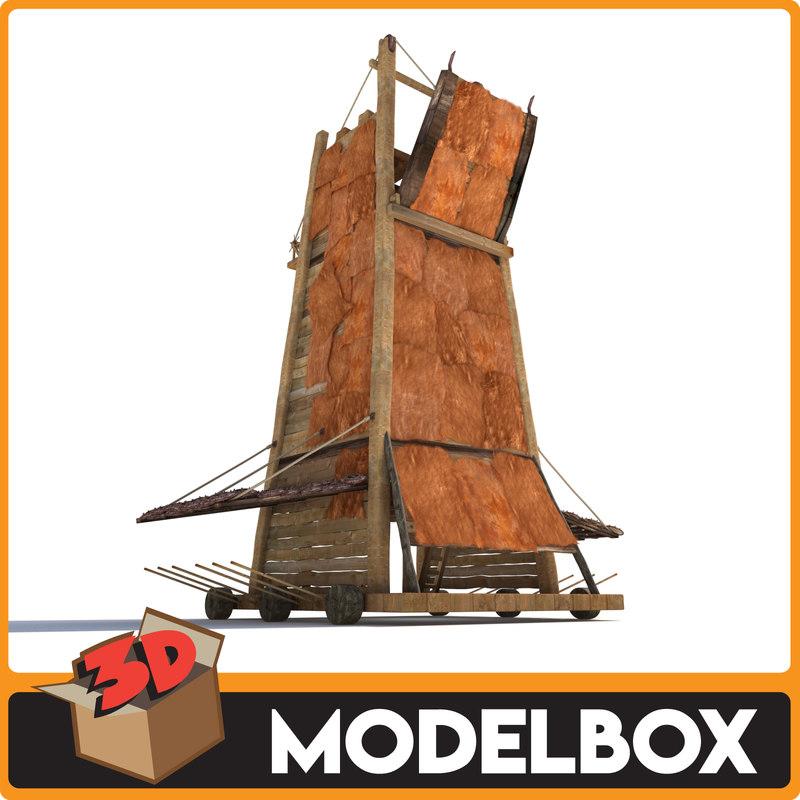 3D siege tower model