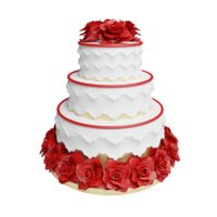 tier wedding cake 3D model