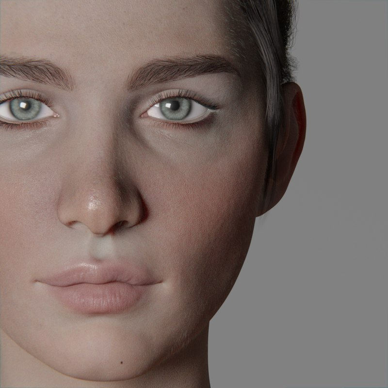 3D galatea woman anatomy model