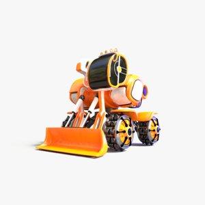 dozer concept 3D model