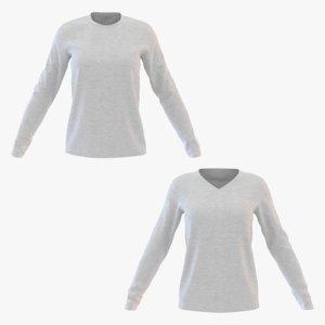 3D model women sweatshirt