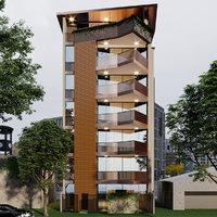 buildings corona 3D model