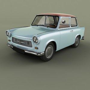 1964 trabant 601 3D model
