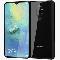 3D model realistic huawei mate 20