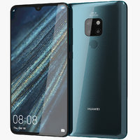 realistic huawei mate 20 3D model