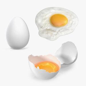 white egg 3D model