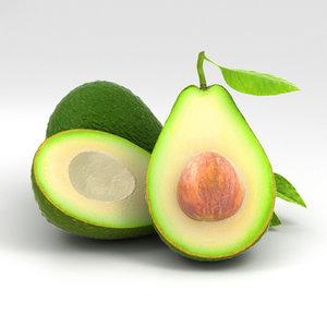 avocado 3D model