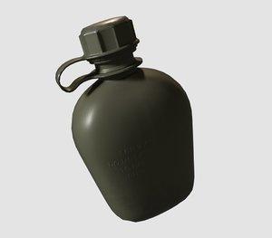 soldier canteen 3D model