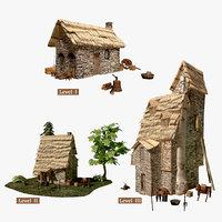 3D fantasy medieval house