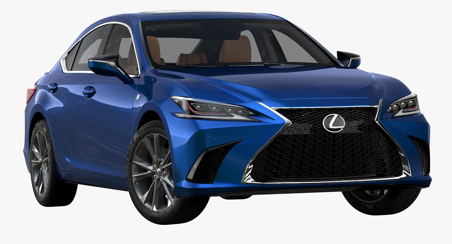 3D 2019 lexus es model