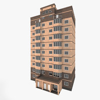 residential house building 3 3D