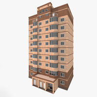 3D model residential house building 1
