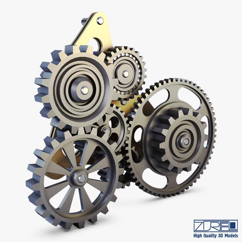 gear mechanism v 5 3D model