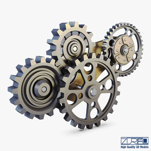 3D gear mechanism v 6