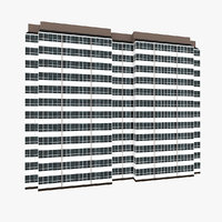 3D residential house building 5 model