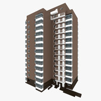 3D residential house building 8 model