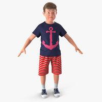 Realistic Modern Teenage Boy with Fur 3D Model